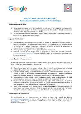 BASES DEL JUEGO-CONCURSO: «CONECTADOS», Navega
