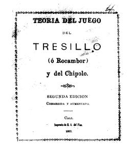 Teoría del juego del tresillo (ó rocambor) y del chipolo.