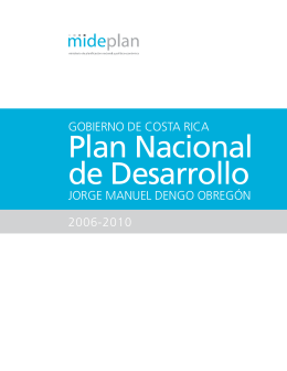 Documento: Plan Nacional de Desarrollo 2006-2010