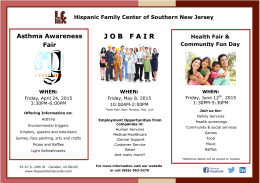 J O B  F A I R - Hispanic Family Center
