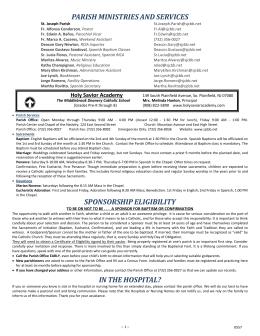 parishministriesandservices sponsorship eligibility
