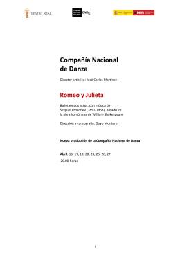Compañía Nacional de Danza: Romeo y Julieta