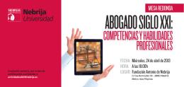 ABOGADO SIGLO XXI: - Universidad Antonio de Nebrija