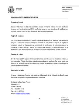 Documento con información de utilidad para - Hiszpania