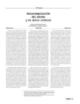 Autorregulación del estrés y el dolor crónico. Benjamín Domínguez