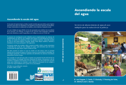Ascendiendo la escala del agua - International Water Management