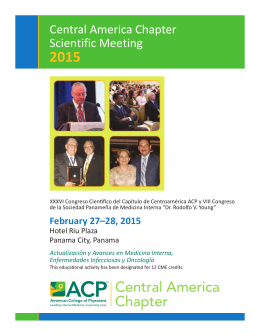 Central America Chapter Scientific Meeting