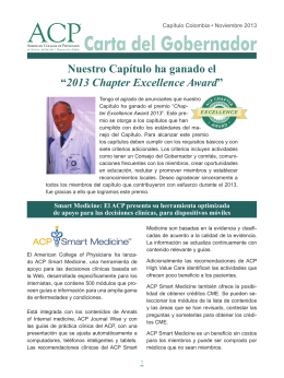 "Nuestro Capítulo ha ganado el ""2013 Chapter Excellence"