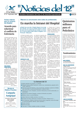 En marcha la Intranet del Hospital