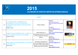 calendario de eventos científicos internacionales