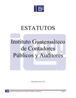 ESTATUTOS Instituto Guatemalteco de Contadores Públicos