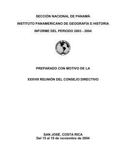 panamá - Instituto Panamericano de Geografía e Historia