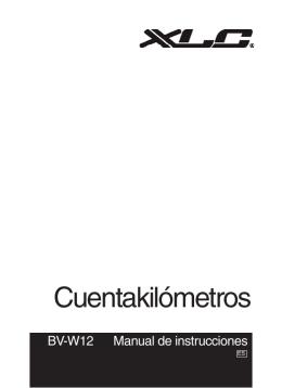 Manual de computadora para bicicleta BV-W12 en español