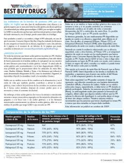 Nuestras recomendaciones Comparación de la eficacia de los PPI1