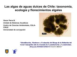 Algas de aguas dulces en Chile: taxonomía, ecología y
