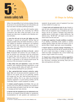 10 Steps to Safety