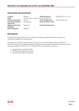 Del driver a la impresión de un PLT con AutoCAD 200x Información