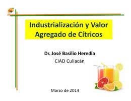Industrialización y Valor Agregado de Cítricos