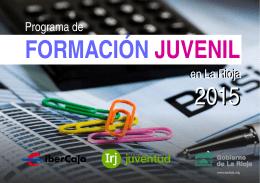 programa de formación en el ámbito de la juventud en La Rioja para