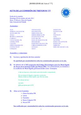 [BORRADOR del Acta nº 77] Asistentes: Acuerdos y