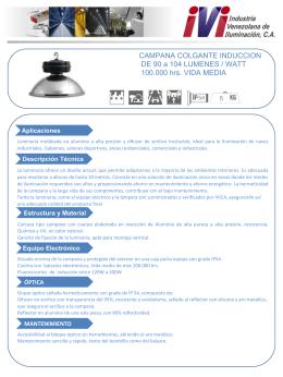 CAMPANA COLGANTE INDUCCION DE 90 a 104 LUMENES