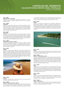 Capitales del Nordeste de Brasil - Salida Grupal 19SEP