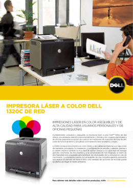 Impresora láser a color Dell 1320c De reD