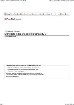 Estrategia: El modelo independiente de fichas (ICM)