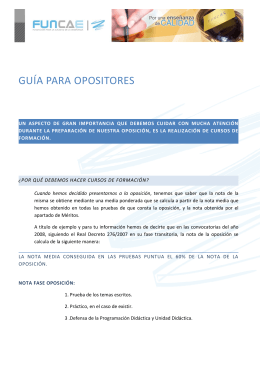 guía para opositores - Fundación para la calidad de la enseñanza