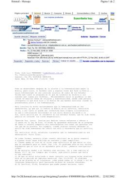 Página 1 de 2 Hotmail - Mensaje 22/02/2002 http