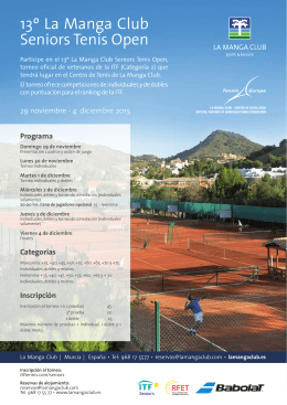 13º La Manga Club Seniors Tenis Open