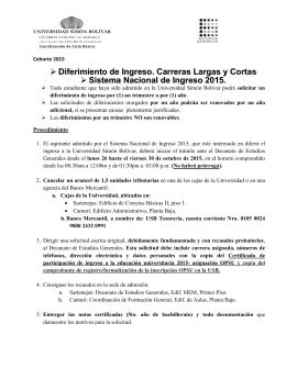 ingreso OPSU - DACE - Universidad Simón Bolívar
