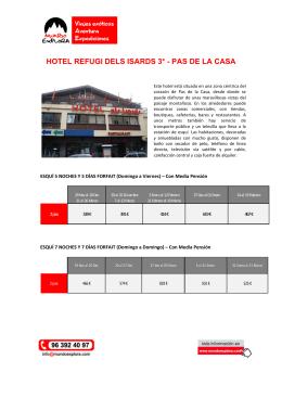 HOTEL REFUGI DELS ISARDS 3* - PAS DE LA CASA