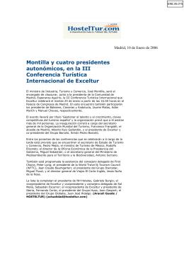 Montilla y cuatro presidentes autonómicos, en la III