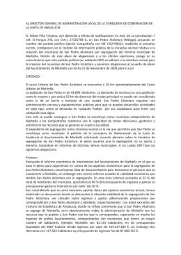 AL DIRECTOR GENERAL DE ADMINISTRACION LOCAL DE