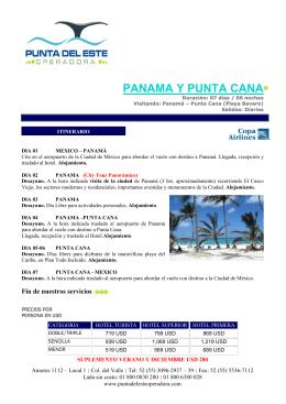 panama y punta cana - Punta del Este Operadora