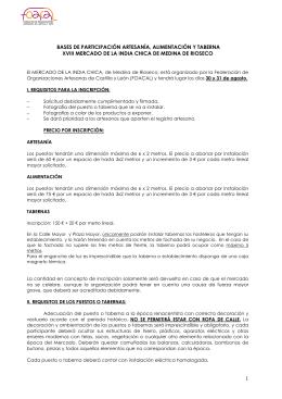 Bases del Mercado de la India Chica de Medina de Rioseco 2014