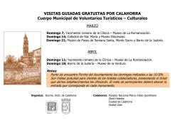 VISITAS GUIADAS GRATUITAS POR CALAHORRA programa