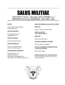 SALUS MILITIAE - Hospital Militar