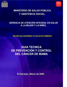 Guía Técnica de Prevención y Control del Cáncer de Mama