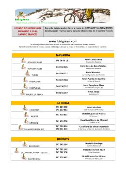 www.bicigreen.com NAVARRA LA RIOJA BURGOS