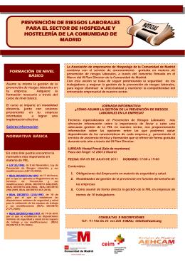 Información jornada P.R.L. Hostelería