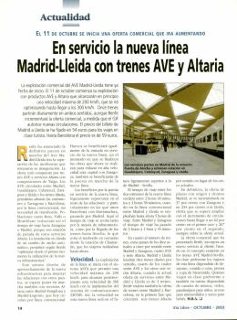 En servicio la nueva línea Madrid