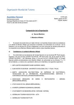 PROVISIONAL AGENDA - World Tourism Organization