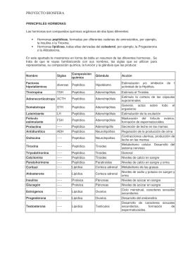 PRINCIPALES HORMONAS