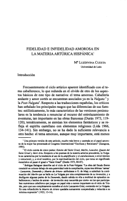 Fidelidad e Infidelidad Amorosa en la Materia Artúrica Hispánica