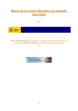 Miguel de Cervantes Saavedra, una biografía para niños