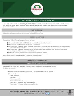 Valid to 01/04/2015 - Hipódromo Argentino de Palermo