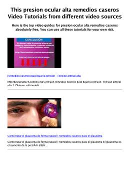 #Z presion ocular alta remedios caseros PDF video books