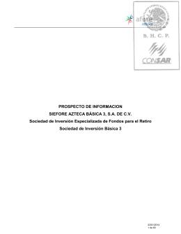 PROSPECTO DE INFORMACION SIEFORE AZTECA